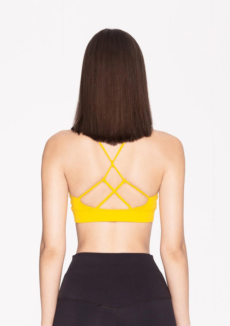 S'dare Sexy Back扭結鏤空交叉美背運動內衣(黃色)