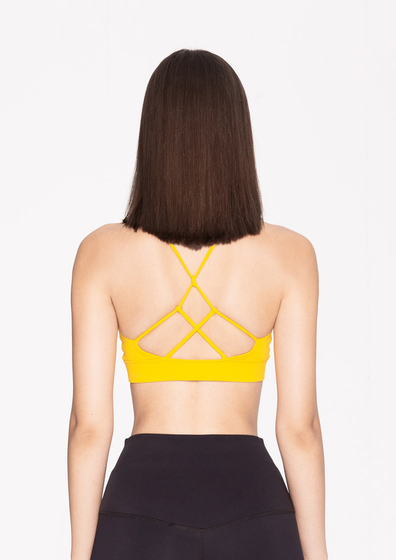 Sdare S'dare Sexy Back扭結鏤空交叉美背運動內衣(黃色)